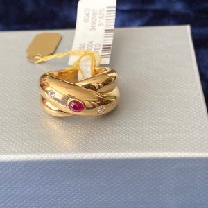 Cartier 18k Diamond and Ruby Ring